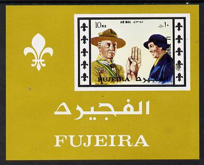 Fujeira 1971 Scout Jamboree imperf m/sheet unmounted mint (Mi BL 62B)
