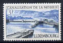 Luxembourg 1964 Moselle Canal 3f unmounted mint SG743