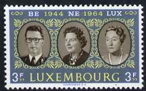 Luxembourg 1964 20th Anniversary of Benelux 3f unmounted mint SG747