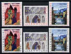 Luxembourg 1964 National Welfare Fund perf set of 6 unmounted mint SG 750-55, stamps on tourism, stamps on bridges, stamps on civil engineering