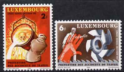 Luxembourg 1980 Prevention of Accidents perf set of 2 unmounted mint SG 1049-50