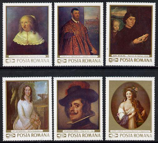 Rumania 1969 Paintings in National Gallery set of 6 unmounted mint, SG 3658-63, Mi 2796-2801