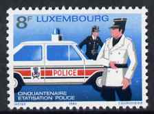 Luxembourg 1980 National Police Force 8f unmounted mint SG 1054