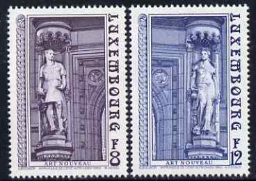 Luxembourg 1980 Art Nouveau Sculpturess perf set of 2 unmounted mint SG 1051-2