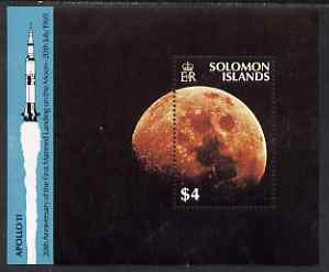 Solomon Islands 1989 20th Anniversary of Moon Landing perf m/sheet unmounted mint SG MS 656