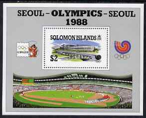 Solomon Islands 1988 Seoul Olympic Games perf m/sheet unmounted mint SG MS 635