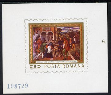 Rumania 1969 Paintings in National Gallery m/sheet (Licino) unmounted mint, SG MS3664, Mi BL 73