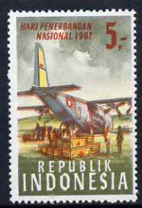 Indonesia 1967 Hercules Transport Plane & Red Cross Packages 5r unmounted mint SG 1158