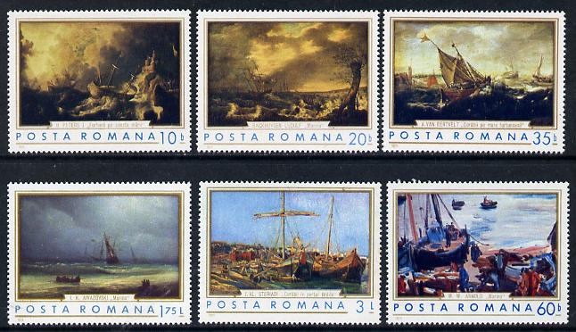 Rumania 1971 Marine Paintings set of 6 unmounted mint, Mi 2971-76, SG 3835-40