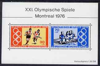 Germany - West 1976 Montreal Olympic Games perf m/sheet unmounted mint, SG MS 1781
