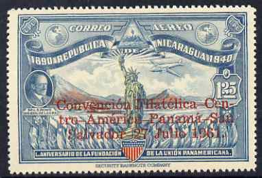Nicaragua 1961 Philatelic Convention opt on Statue of Liberty stamp unmounted mint, SG 1432