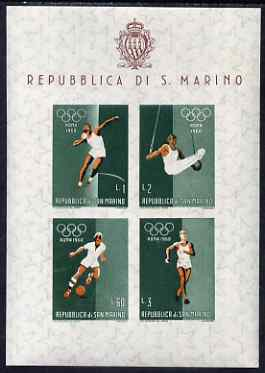 San Marino 1960 Rome Olympic Games perf m/sheet #1 unmounted mint, SG MS 616a