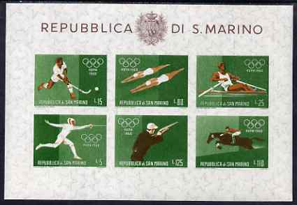 San Marino 1960 Rome Olympic Games perf m/sheet #3 unmounted mint, SG MS 616c