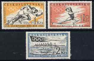 Czechoslovakia 1960 Rome Olympic Games perf set of 3 unmounted mint, SG 1163-5