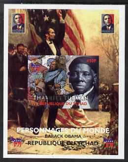 Chad 2008 Barack Obama imperf s/sheet #1 unmounted mint. Note this item is privately produced and is offered purely on its thematic appeal.