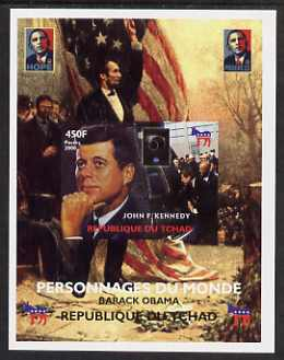 Chad 2008 Barack Obama imperf s/sheet #2 unmounted mint. Note this item is privately produced and is offered purely on its thematic appeal.