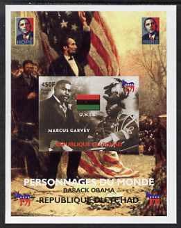 Chad 2008 Barack Obama imperf s/sheet #3 unmounted mint. Note this item is privately produced and is offered purely on its thematic appeal. .
