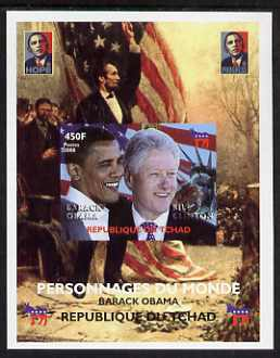 Chad 2008 Barack Obama imperf s/sheet #6 unmounted mint. Note this item is privately produced and is offered purely on its thematic appeal. .
