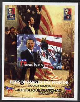 Chad 2008 Barack Obama imperf s/sheet #7 unmounted mint. Note this item is privately produced and is offered purely on its thematic appeal. .