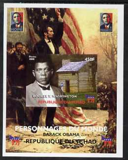 Chad 2008 Barack Obama imperf s/sheet #9 unmounted mint. Note this item is privately produced and is offered purely on its thematic appeal. .
