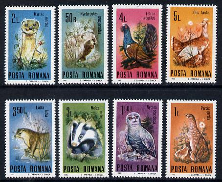 Rumania 1985 Protected Animals set of 8 unmounted mint, Mi 4133-40
