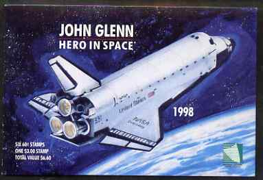 Booklet - Marshall Islands 1998 John Glenn Hero in Space $6.60 booklet complete and fine, SG SB25