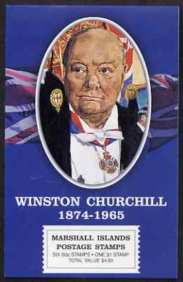 Booklet - Marshall Islands 2000 Winston Churchill $6.60 booklet complete and fine, SG SB26