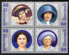 Marshall Islands 2000 100th Birthday of Queen Mother se-tenant block of 4 unmounted mint, SG 1390-93