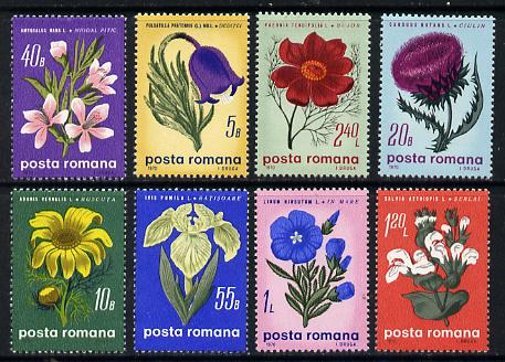 Rumania 1970 Flowers set of 8 unmounted mint, SG 3700-07, Mi 2824-31