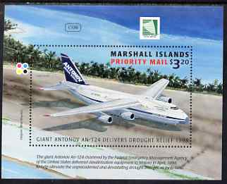 Marshall Islands 1998 Drought Relief by Antonov AN-124 perf m/sheet unmounted mint