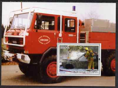 Benin 2004 Fire Engines #1 perf m/sheet unmounted mint