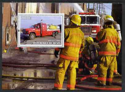 Benin 2004 Fire Engines #2 perf m/sheet unmounted mint