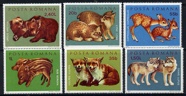 Rumania 1972 Young Wild Animals set of 6 unmounted mint, SG 3885-90, Mi 3005-10*