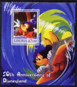 Liberia 2005 50th Anniversary of Disneyland #06 (Mickey Mouse) perf s/sheet unmounted mint