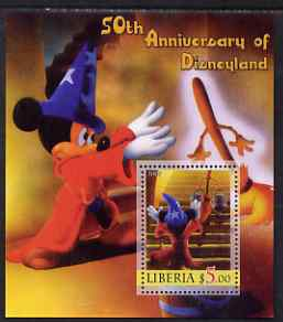 Liberia 2005 50th Anniversary of Disneyland #08 (Mickey Mouse) perf s/sheet unmounted mint
