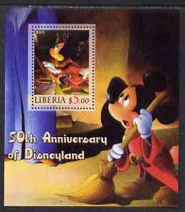 Liberia 2005 50th Anniversary of Disneyland #10 (Mickey Mouse) perf s/sheet unmounted mint
