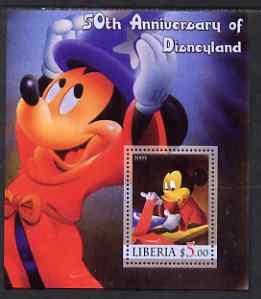Liberia 2005 50th Anniversary of Disneyland #12 (Mickey Mouse) perf s/sheet unmounted mint