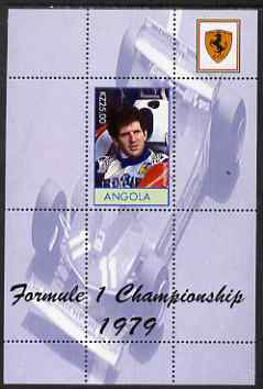 Angola 2000 Ferrari Formula 1 World Champions 1979 - Jody Scheckter perf s/sheet unmounted mint. Note this item is privately produced and is offered purely on its themati...
