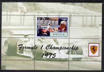 Angola 2000 Ferrari Formula 1 World Champions 1975 - Niki Lauda perf s/sheet unmounted mint. Note this item is privately produced and is offered purely on its thematic ap...