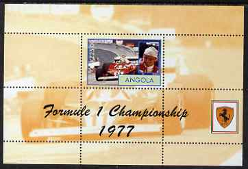 Angola 2000 Ferrari Formula 1 World Champions 1977 - Niki Lauda perf s/sheet unmounted mint. Note this item is privately produced and is offered purely on its thematic ap...