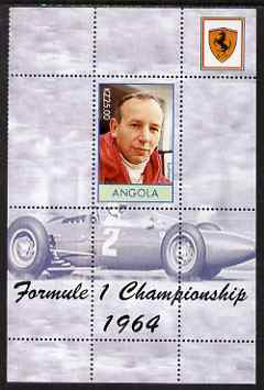 Angola 2000 Ferrari Formula 1 World Champions 1964 - John Surtees perf s/sheet unmounted mint. Note this item is privately produced and is offered purely on its thematic ...
