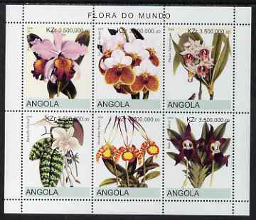Angola 2000 Flowers #3 perf sheetlet containing 6 values unmounted mint. Note this item is privately produced and is offered purely on its thematic appeal