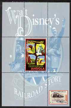 Angola 2000 Walt Disney's Railroad Story #2 perf s/sheet unmounted mint