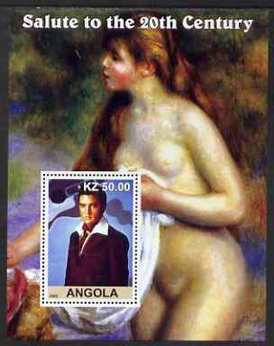 Angola 2002 Salute to the 20th Century #01 perf s/sheet - Elvis & Nude by Renoir, unmounted mint