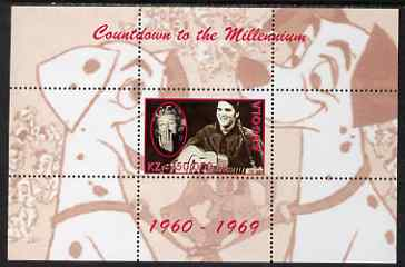 Angola 1999 Countdown to the Millennium #07 (1960-1969) perf souvenir sheet (Elvis, Marilyn and 101 Dalmations) unmounted mint. Note this item is privately produced and i...