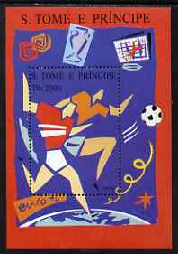 St Thomas & Prince Islands 1995 Euro '96 Football perf m/sheet unmounted mint