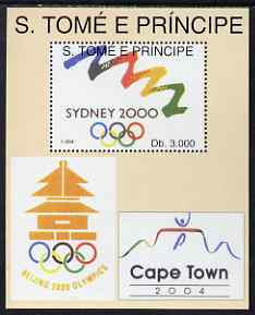St Thomas & Prince Islands 1994 Olympic Games perf m/sheet (Olympic Symbols) unmounted mint. Note this item is privately produced and is offered purely on its thematic appeal