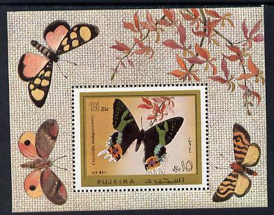 Fujeira 1971 Butterflies m/sheet unmounted mint (Mi BL 79A)
