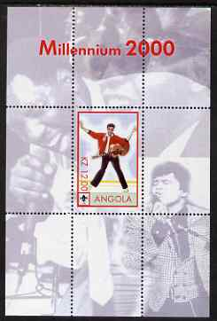 Angola 2000 Millennium 2000 - Elvis perf s/sheet (background shows other singers) unmounted mint. Note this item is privately produced and is offered purely on its thematic appeal