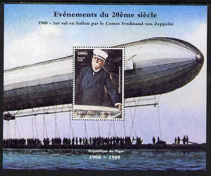 Niger Republic 1998 Zeppelin 2,000f perf s/sheet unmounted mint